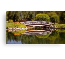 Garden Bridge Reflections Canvas Print