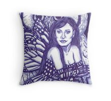 Fairy Queen of the animals Throw Pillow