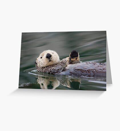 The Waving Sea Otter Greeting Card