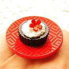 Food Ring Chocolate Ice Cream Asian Flower  by souzoucreations