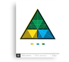 Work equals Force times distance Tetractys Triangle Canvas Print