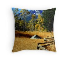 """Split Rail Fence"" Throw Pillow"
