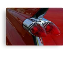 Classic Chrome & Lipstick Red Canvas Print