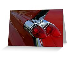 Classic Chrome & Lipstick Red Greeting Card