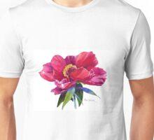 Magenta Peony Watercolor Unisex T-Shirt
