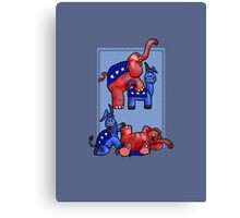 Political Party Canvas Print