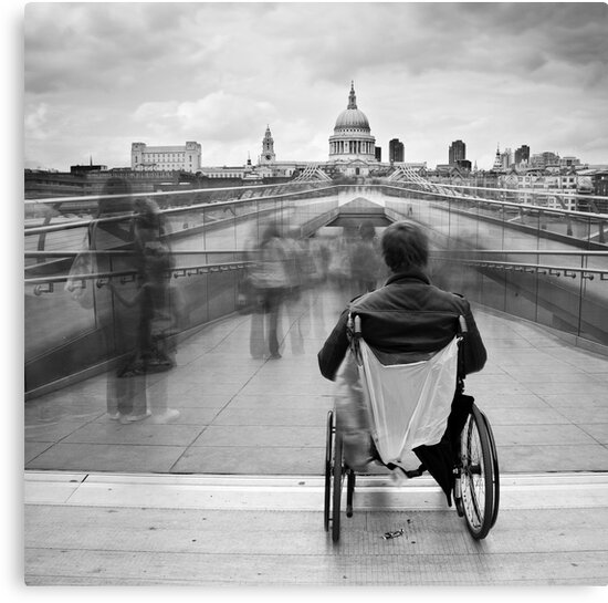 Invisible ..... Millennium Bridge, London by DaveTurner