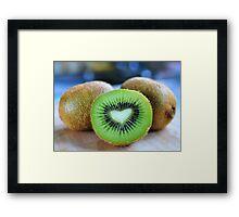 ♥ kiwi Framed Print