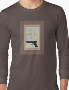 Rick and Morty: Guns Are'nt Fun Long Sleeve T-Shirt