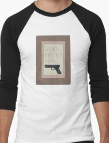 Rick and Morty: Guns Are'nt Fun Men's Baseball ¾ T-Shirt