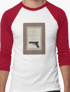 Rick and Morty: Guns Are'nt Fun Men's Baseball ¾ T-Shirt