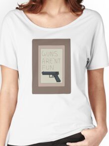 Rick and Morty: Guns Are'nt Fun Women's Relaxed Fit T-Shirt