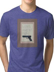 Rick and Morty: Guns Are'nt Fun Tri-blend T-Shirt