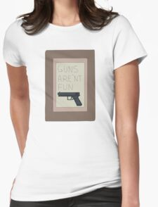 Rick and Morty: Guns Are'nt Fun Womens Fitted T-Shirt