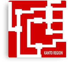 Kanto Region Map Canvas Print