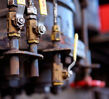 Detail of a steam train exhibit in Williams AZ by raceman
