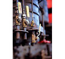 Detail of a steam train exhibit in Williams AZ Photographic Print