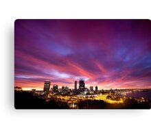 Perth city sunrise , Western Australia Canvas Print