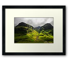 The Mountains of Glencoe Framed Print
