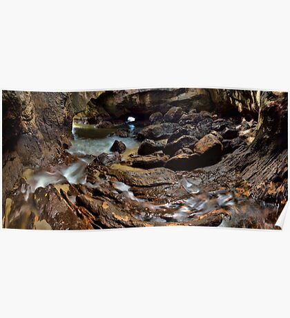 Whiritoa Blow Hole Cave Poster