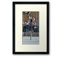 Juggling + a Uni-cycle? Framed Print