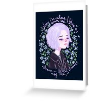 Riley Blue by Ane Teruel Greeting Card