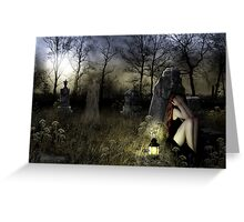 The Graveyard Ghost Greeting Card