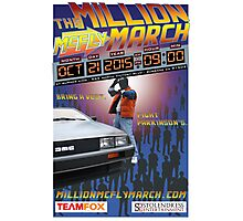 The Million McFly March Parkinson's Benefit Official Poster (Max Size 12 X 18) Photographic Print