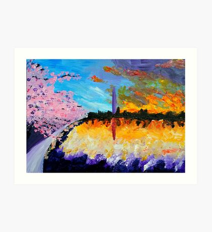 Washington at Sunset Art Print