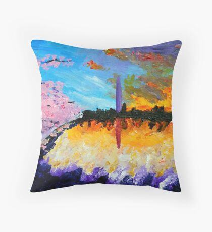 Washington at Sunset Throw Pillow