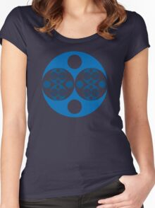 Fractal Circle Pattern Women's Fitted Scoop T-Shirt