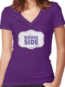 YouTube.com/OurDidneeSides Women's Fitted V-Neck T-Shirt