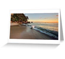 Waimama Bay Dawn Splash Greeting Card