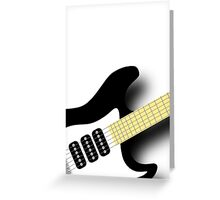Air Guitar Greeting Card