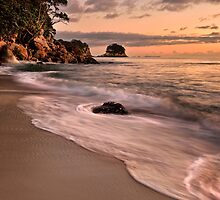 Whiritoa Dawn Pastels by Ken Wright