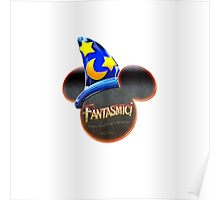 Fantasmic! - Metallic Mouse Ears, Hat, and Logo Design Poster