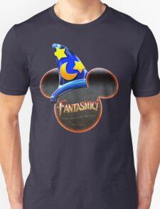 Fantasmic! - Metallic Mouse Ears, Hat, and Logo Design T-Shirt