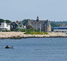 Ocean Road - Narragansett Towers - Coast Guard House by Jack McCabe