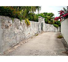 Old Bermuda Lane Photographic Print