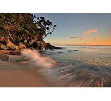 Whiritoa Dawn Rush Photographic Print