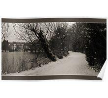 Winter Dreams in Sepia Poster