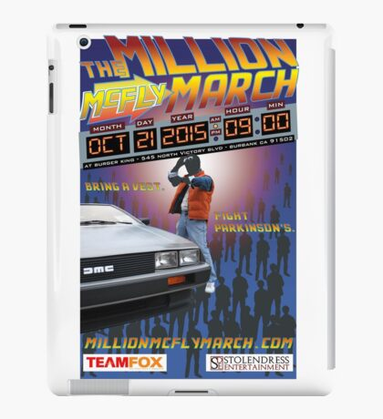 The Million McFly March Parkinson's Benefit Official Poster (Max Size 12 X 18) iPad Case/Skin