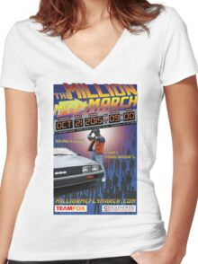 The Million McFly March Parkinson's Benefit Official Poster (Max Size 12 X 18) Women's Fitted V-Neck T-Shirt