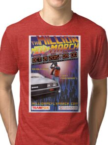The Million McFly March Parkinson's Benefit Official Poster (Max Size 12 X 18) Tri-blend T-Shirt