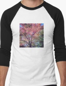 Spring Tree Scene Men's Baseball ¾ T-Shirt