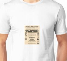 James Younger Gang Wanted Unisex T-Shirt