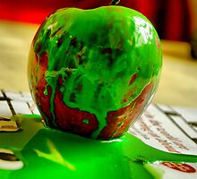 trashed apple by Janis Read-Walters