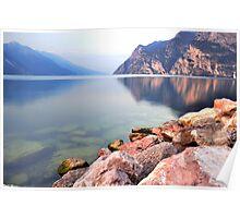Prime ore del mattino sul Lago di Garda Poster