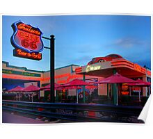 Cruisers Cafe, route 66, Williams AZ (in colour) Poster