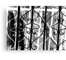 Light Iron Shadows & Wood Canvas Print
